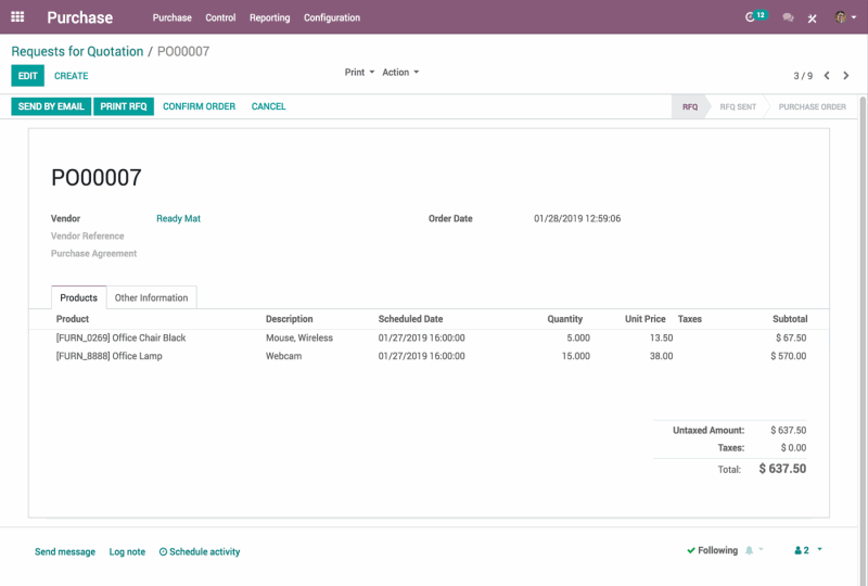 Easily manage suppliers  & purchase orders 1